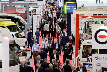 A busy aisle at The Commercial Vehicle Show - image
