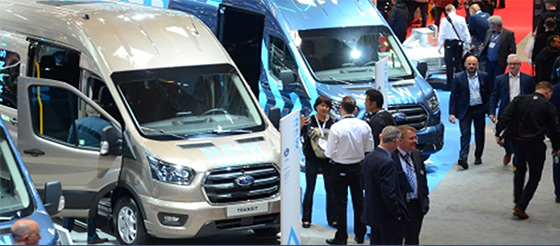 A busy stand at The Commercial Vehicle Show - image
