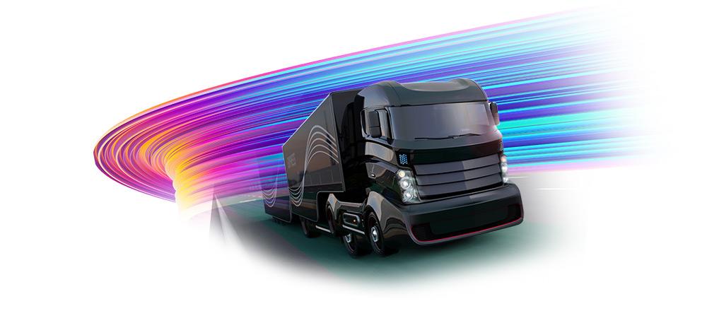 Futuristic truck - image