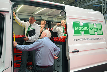 Looking inside a van at The Commercial Vehicle Show - image