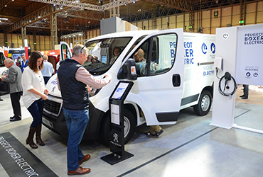 An electric van at The Commercial Vehicle Show - image