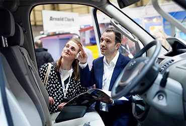 Visitors inspecting a cab at The Commercial Vehicle Show - image